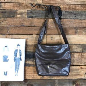 Brown Handbag Front/back pockets